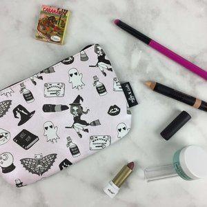 4/$20 Ipsy & Valfre pastel pink spooky makeup bag